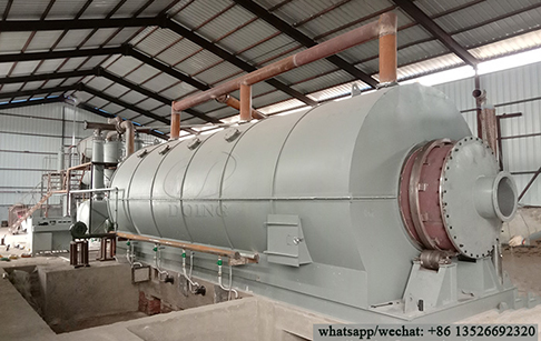 15TPD waste oil sludge pyrolysis plant project in Jilin, China
