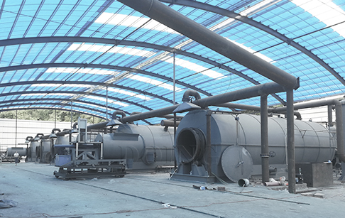6 sets of 15TPD waste plastic into fuel oil pyrolysis plant project in Hunan, China