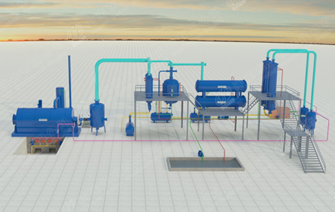 3D demo video of waste plastic to oil machine working process