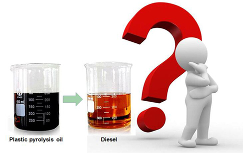 How to purify pyrolysis plastic oil to diesel?