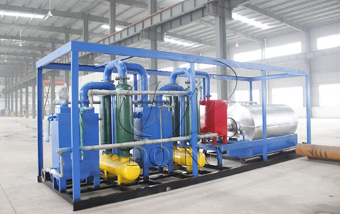 What is mini waste plastic to oil machine?