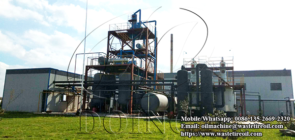 waste plastic oil to diesel plant