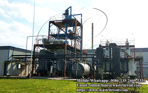 2 sets 12T/D waste plastic pyrolysis plants and one set 10T/D waste plastic oil to diesel plant installed in Anhui, China