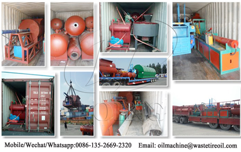 10T/day waste plastic to oil machine shipped to Ethiopia