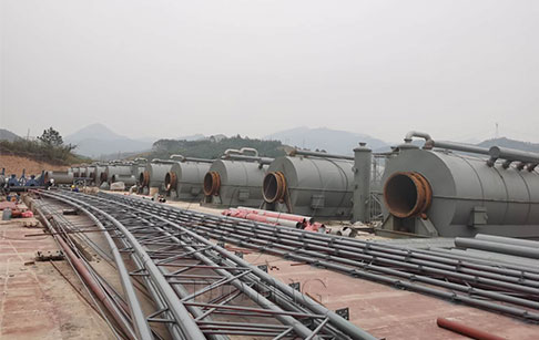 6 sets of 12T pyrolysis of plastic into fuel plant project in Guangxi, China